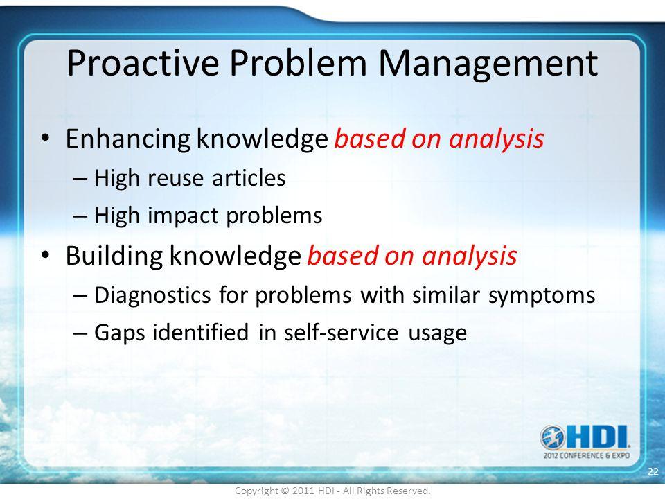 Proactive Problem Management