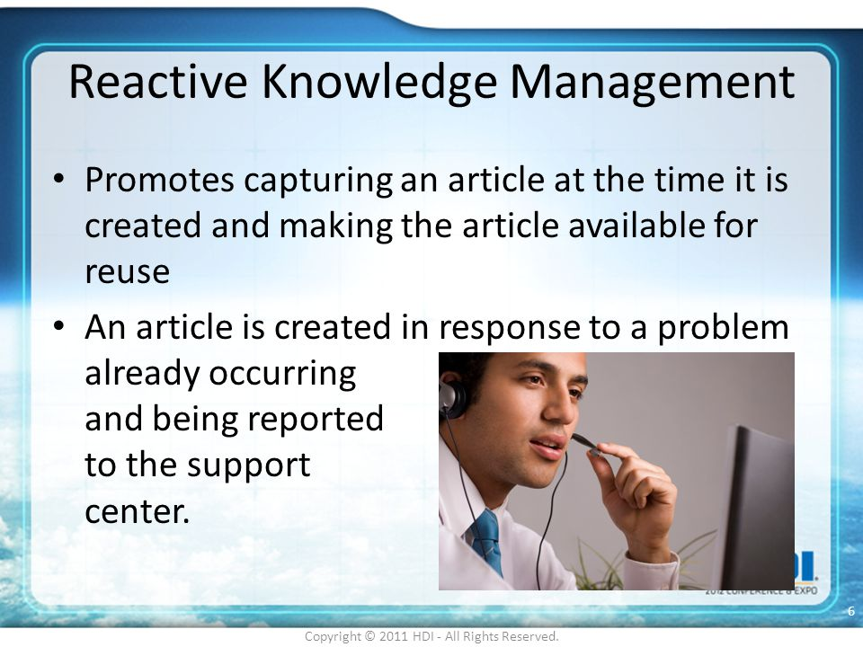 Reactive Knowledge Management