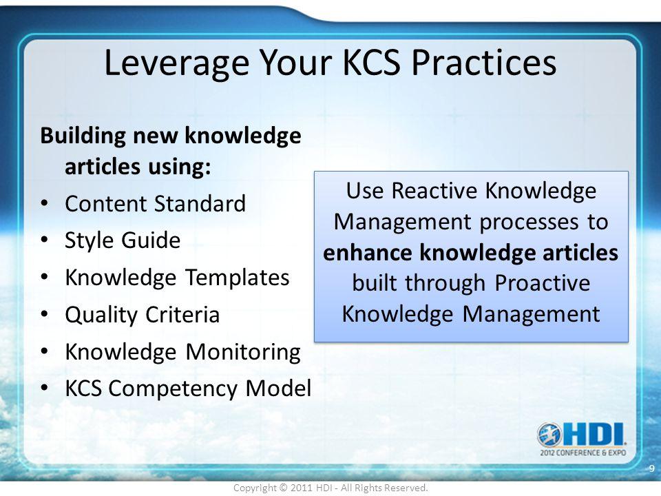 Leverage Your KCS Practices