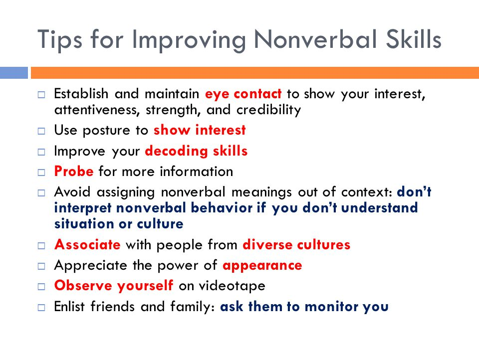 Tips for Improving Nonverbal Skills