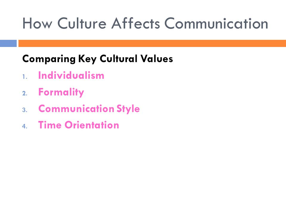 How Culture Affects Communication