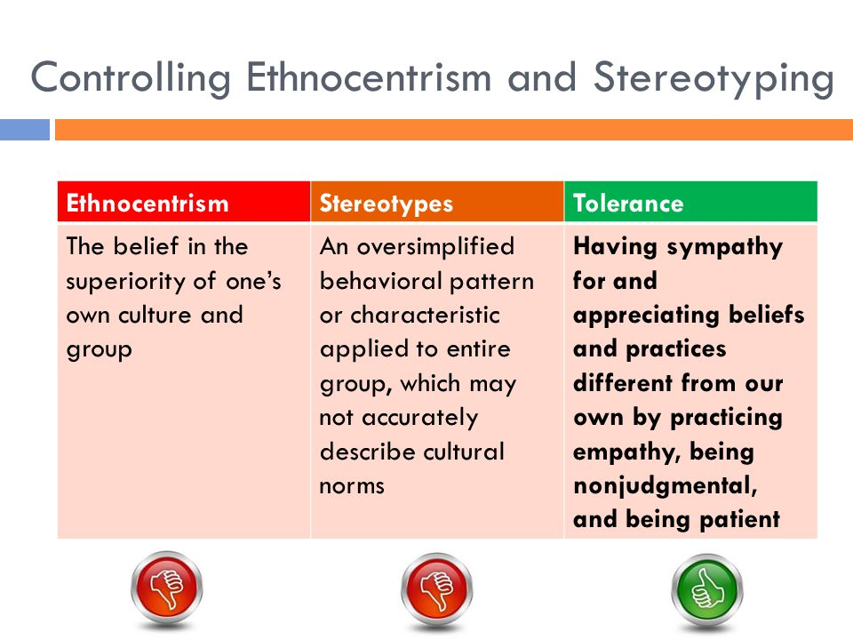 ethnocentrism and stereotypes Click here 👆 to get an answer to your question ️ ethnocentrism can lead to all the following except _____ a tolerance b stereotypes c racism d.