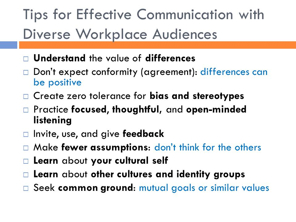 Tips for Effective Communication with Diverse Workplace Audiences