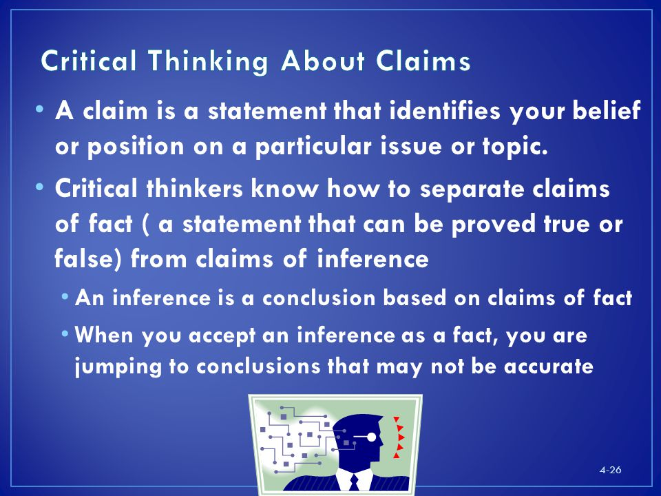Critical Thinking About Claims