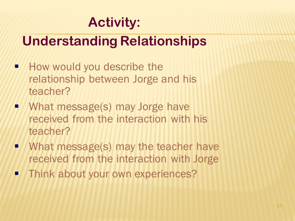 Understanding Relationships