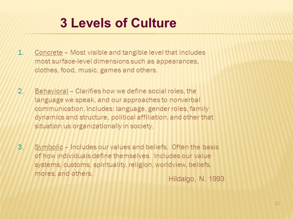 3 Levels of Culture