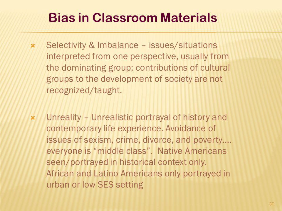 Bias in Classroom Materials