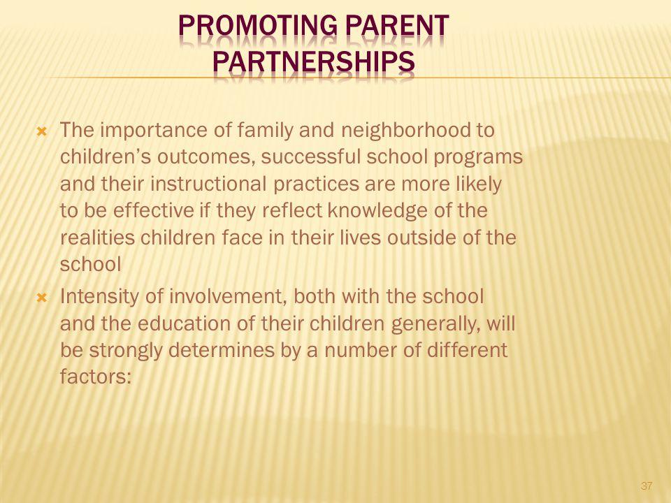 Promoting Parent Partnerships
