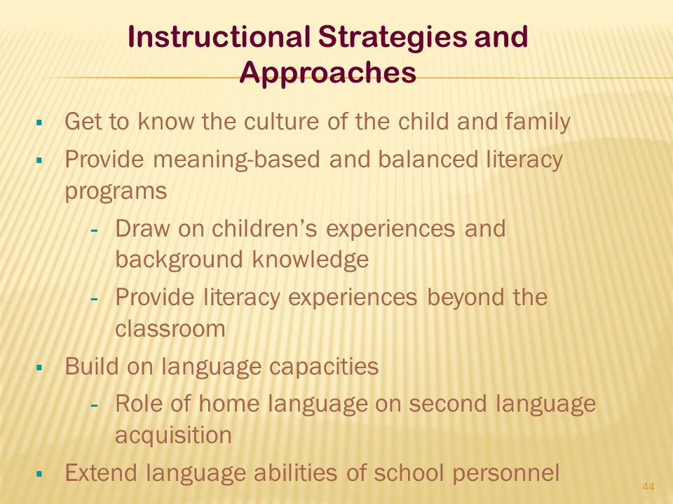 Instructional Strategies and Approaches