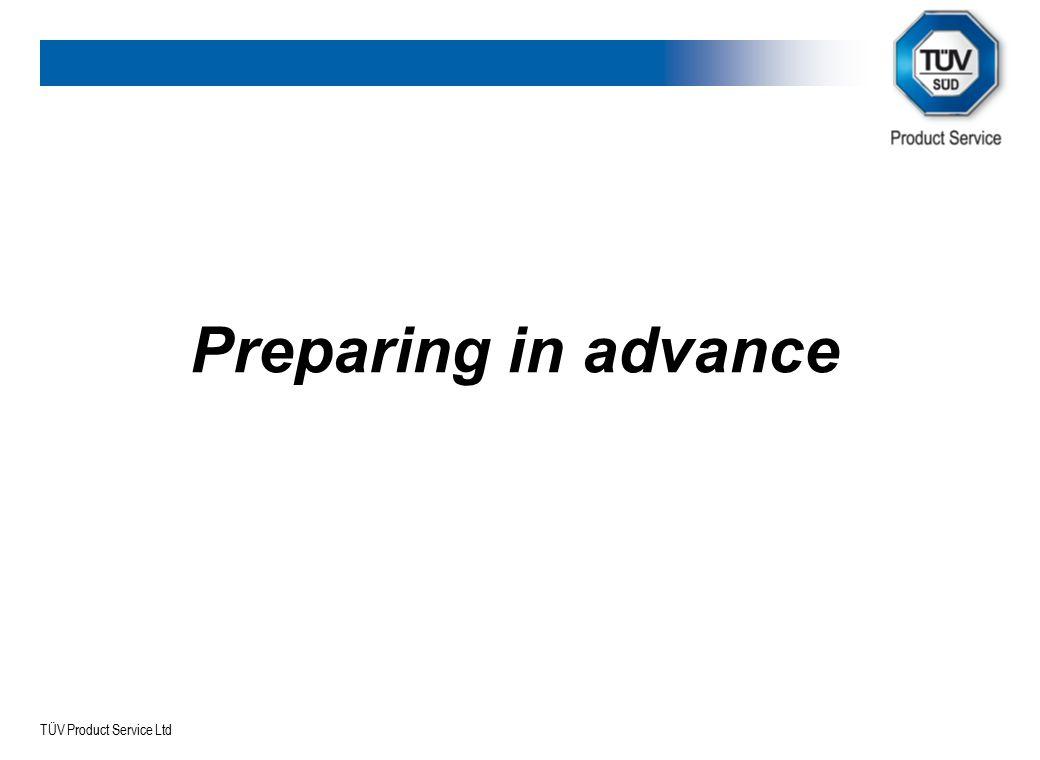 Preparing in advance