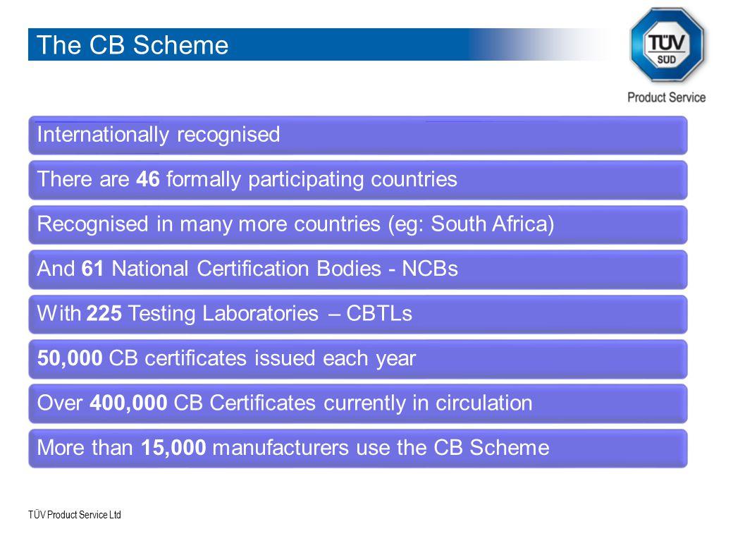 The CB Scheme Internationally recognised