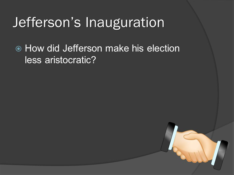 Jefferson's Inauguration