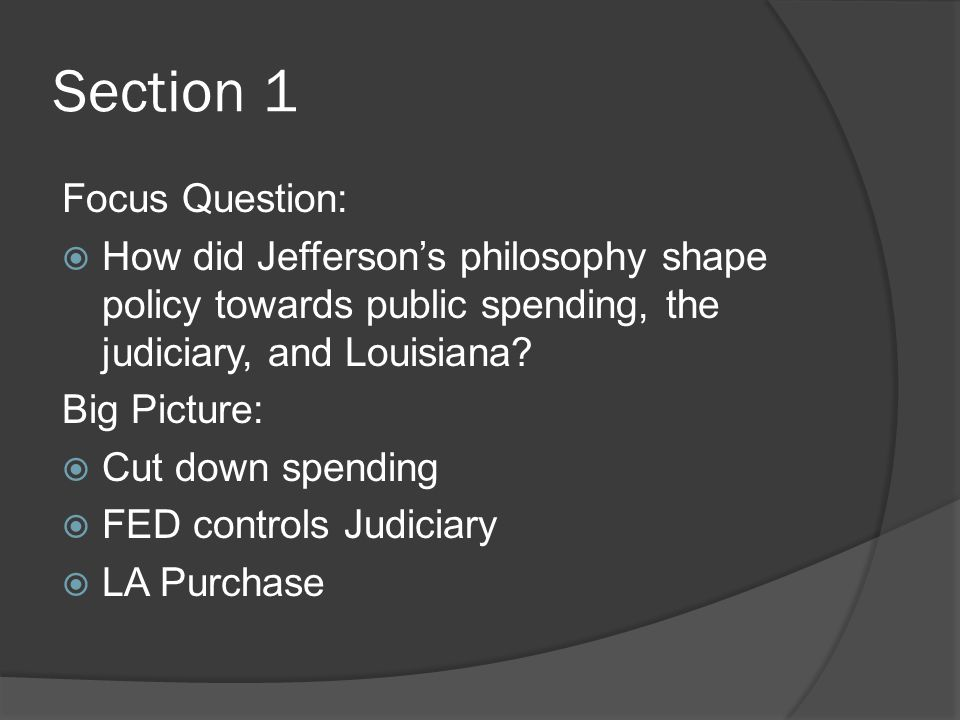 Section 1 Focus Question: