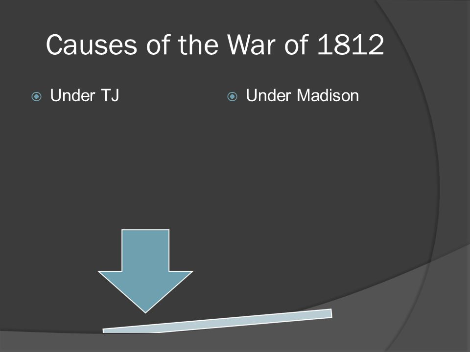 Causes of the War of 1812 Under TJ Under Madison