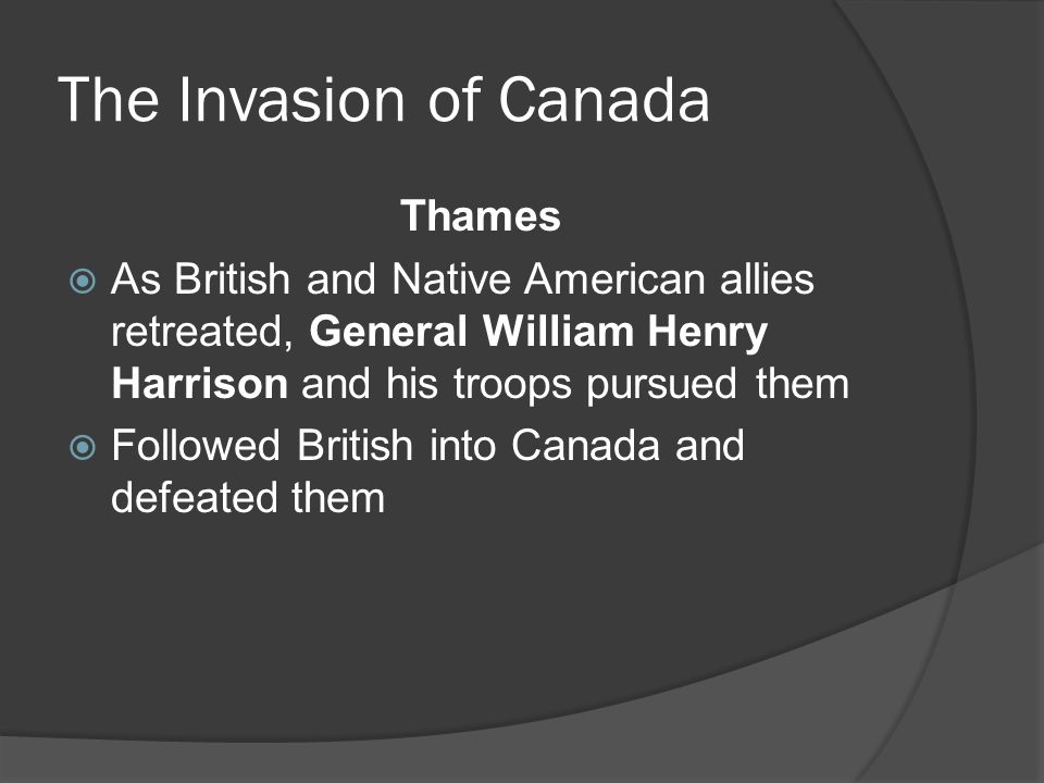 The Invasion of Canada Thames