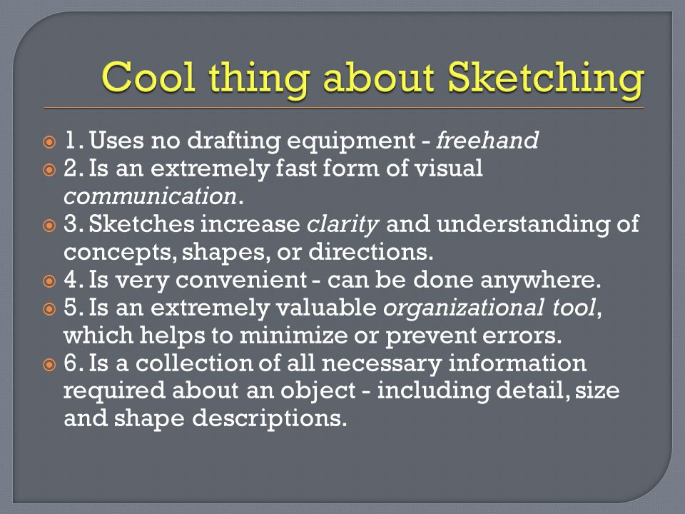 Cool thing about Sketching