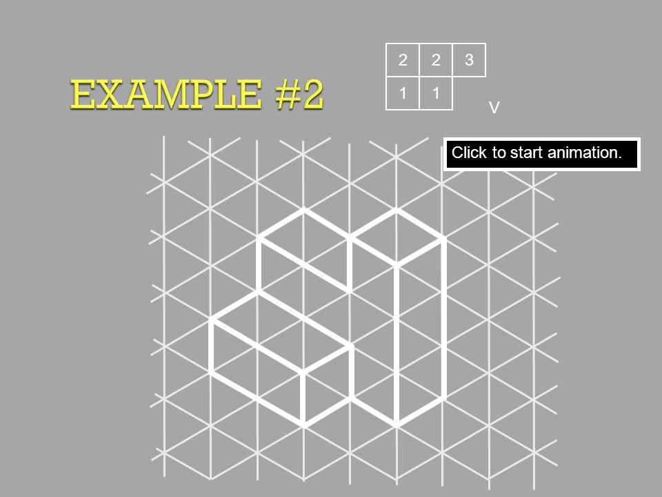 EXAMPLE #2 2 2 3 1 1 V Click to start animation.