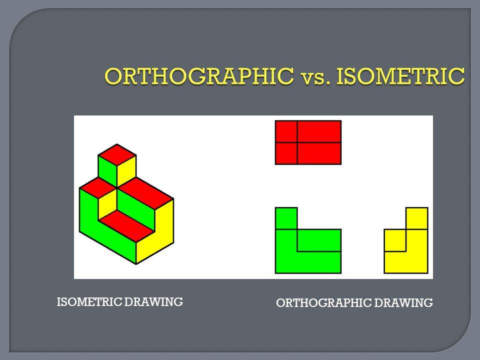 ORTHOGRAPHIC vs. ISOMETRIC