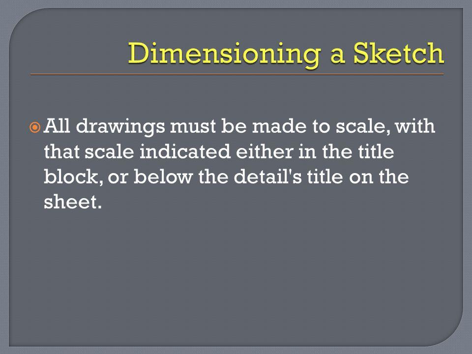 Dimensioning a Sketch