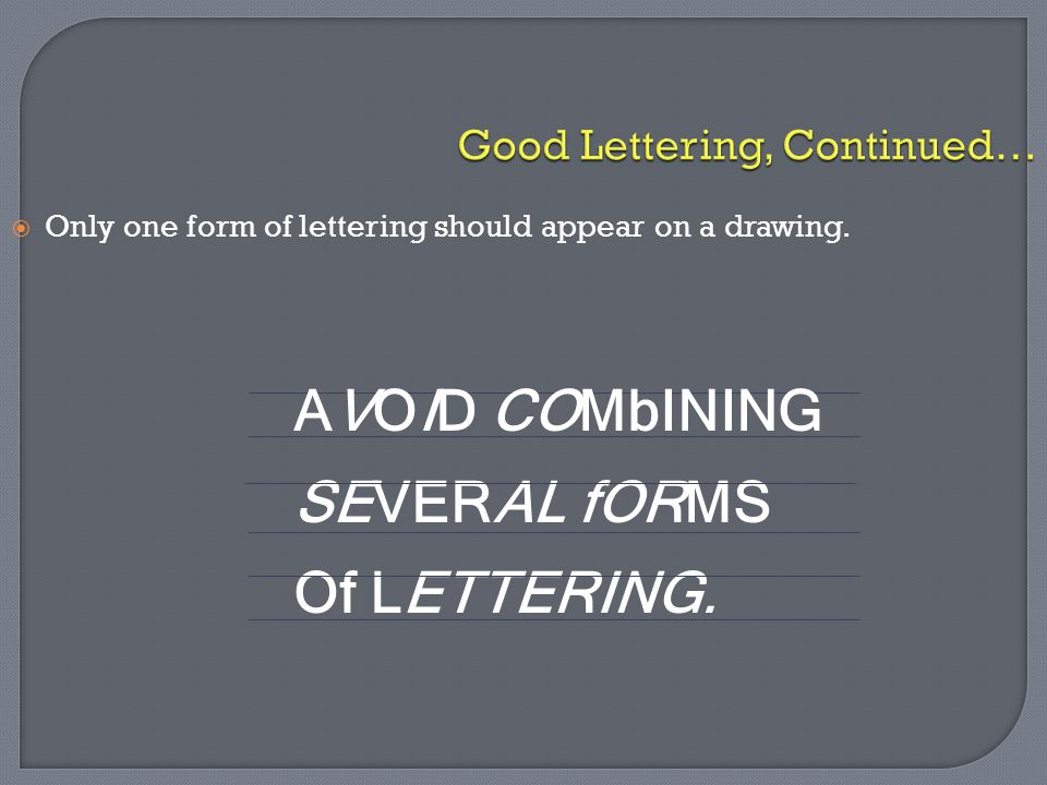Good Lettering, Continued…