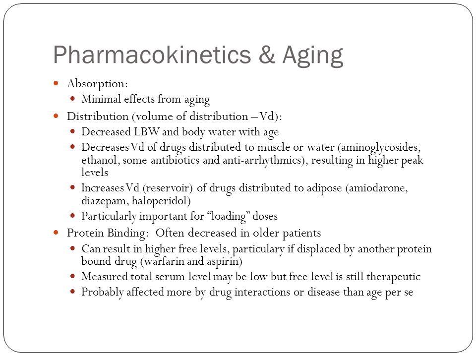 Pharmacokinetics & Aging