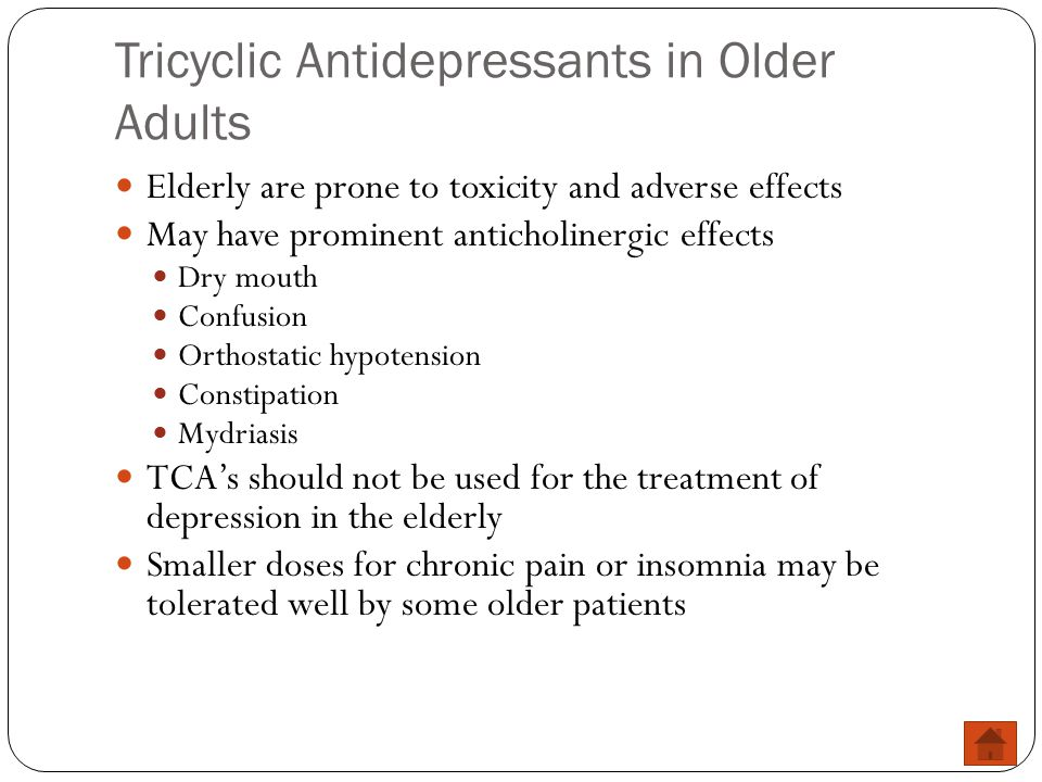 Tricyclic Antidepressants in Older Adults