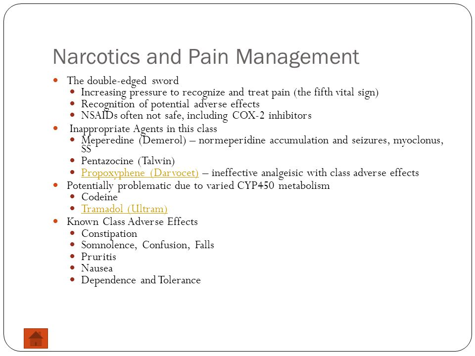 Narcotics and Pain Management