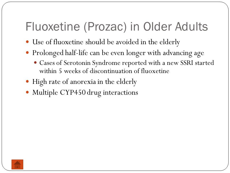 Fluoxetine (Prozac) in Older Adults