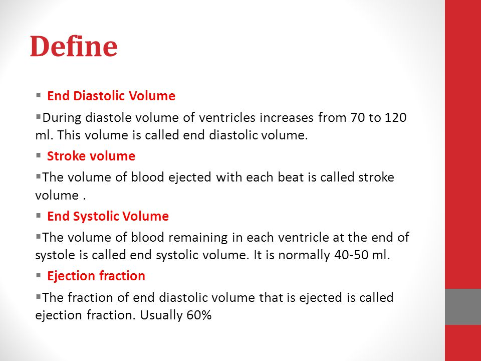 Define End Diastolic Volume