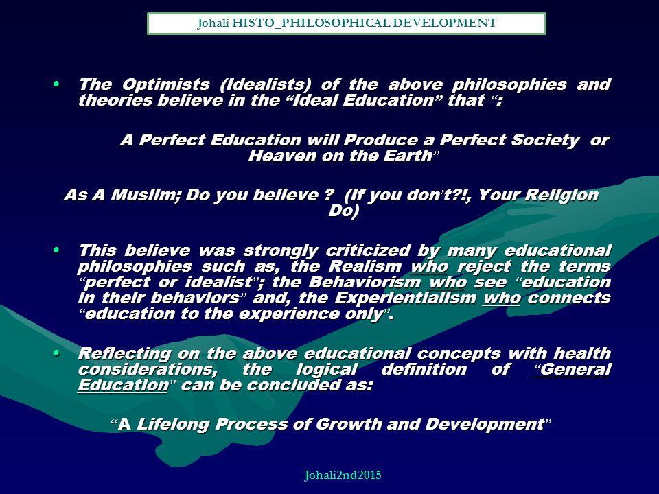 Johali HISTO_PHILOSOPHICAL DEVELOPMENT