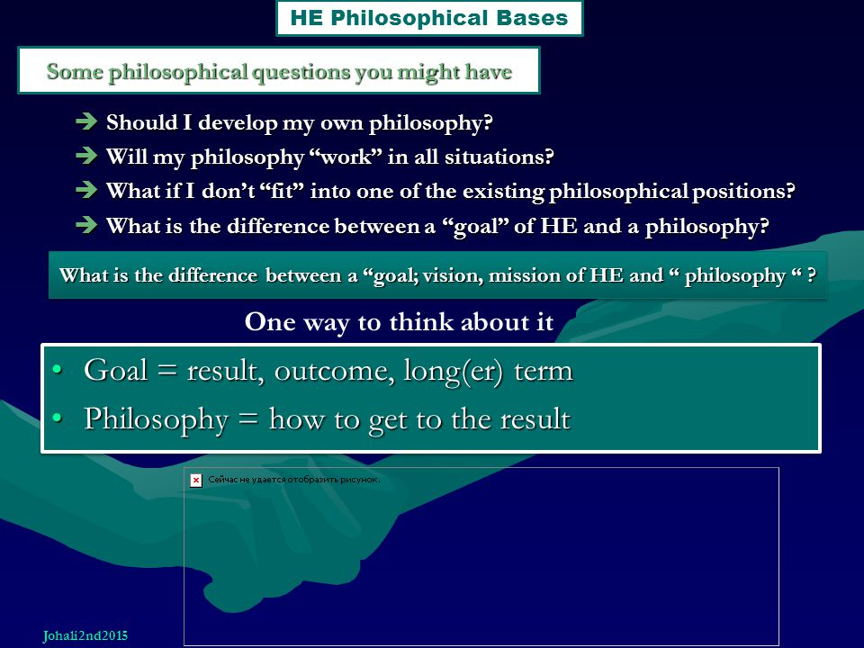Some philosophical questions you might have