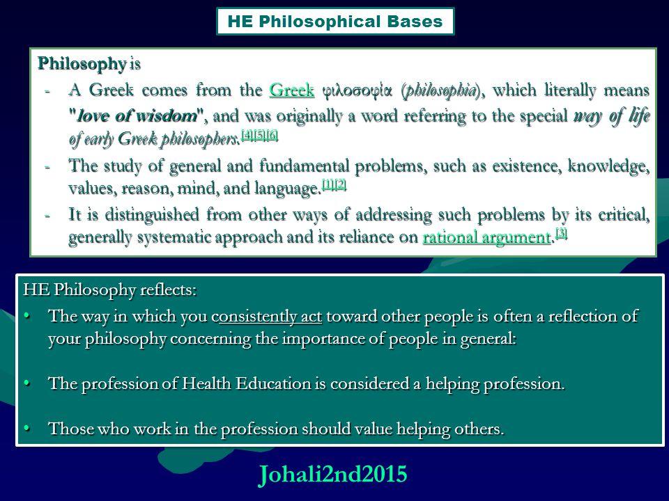Johali2nd2015 Philosophy is