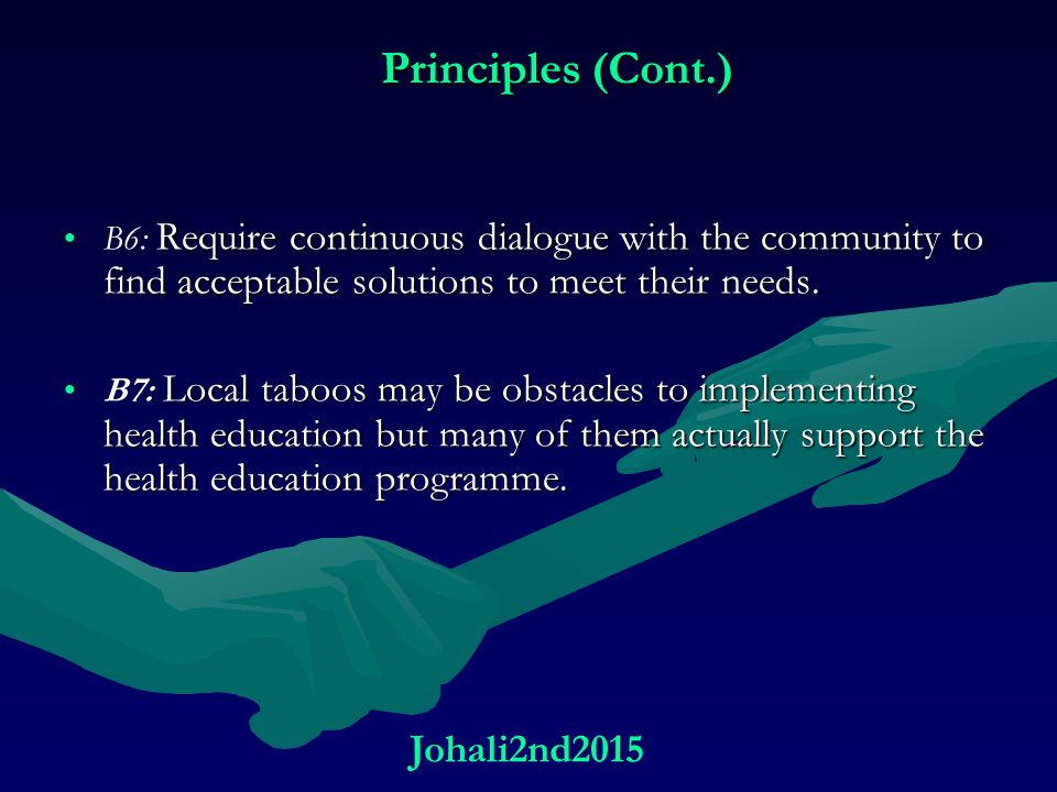 Principles (Cont.) Johali2nd2015
