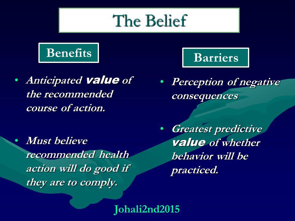 The Belief Benefits Barriers