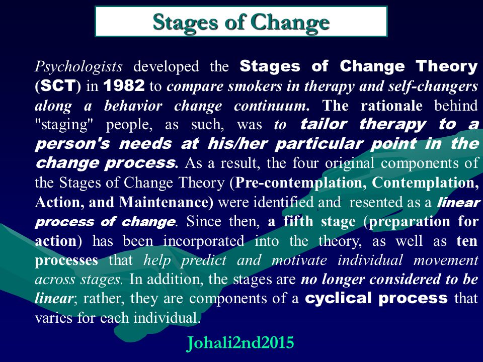 Stages of Change Johali2nd2015