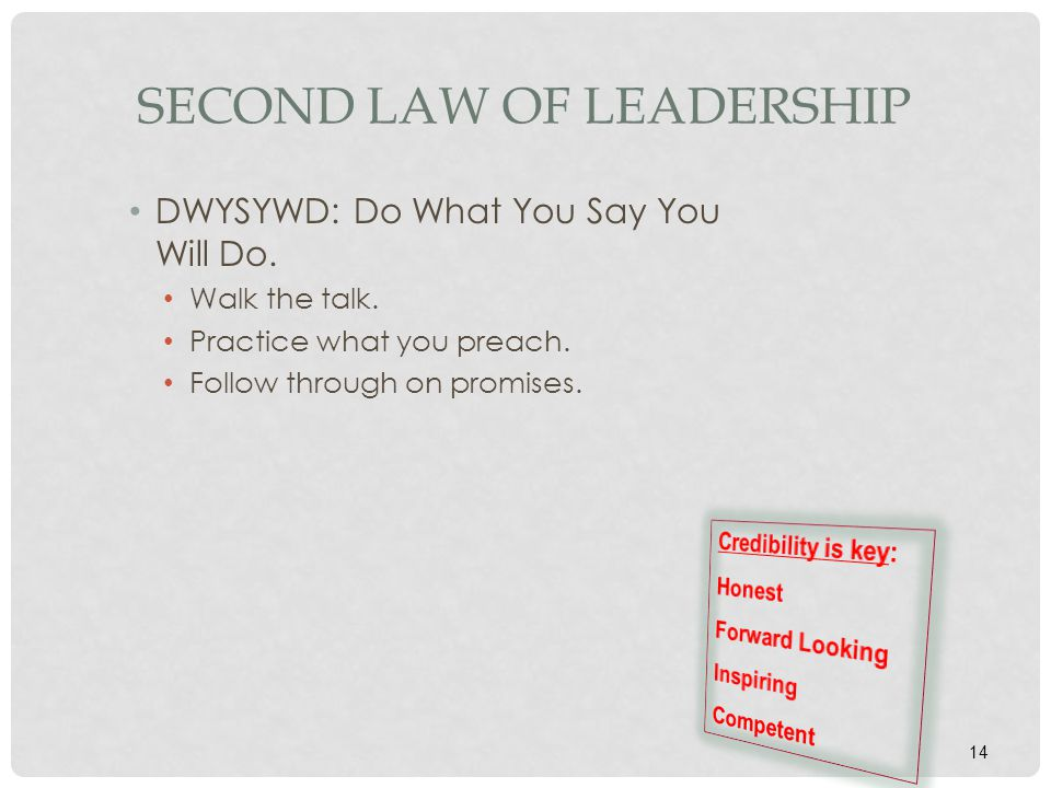 Second Law of Leadership