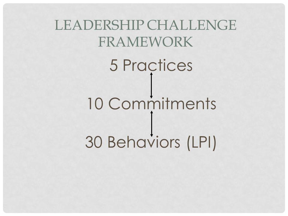 Leadership Challenge Framework