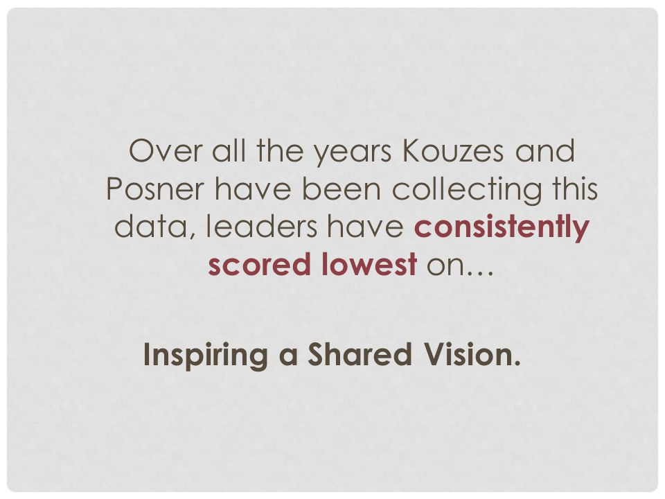 Inspiring a Shared Vision.