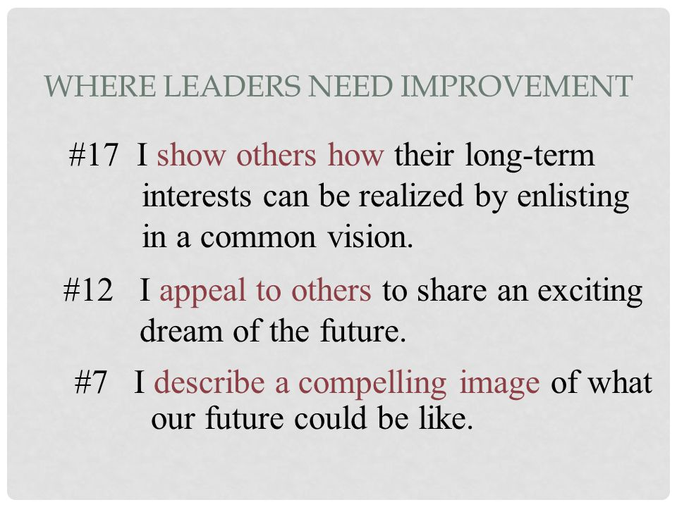 Where Leaders Need Improvement