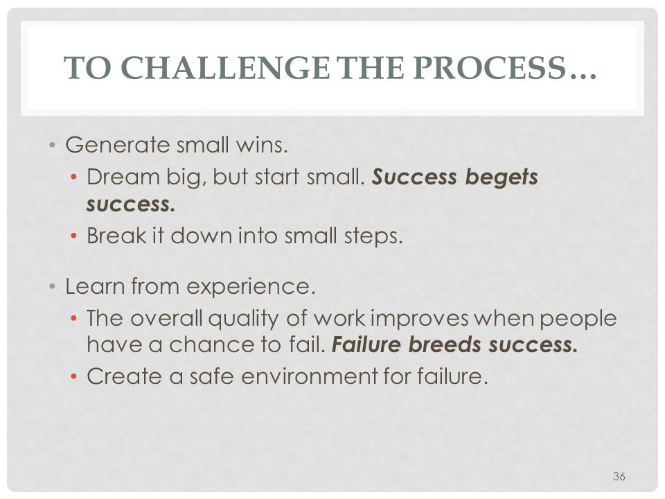 To challenge the process…