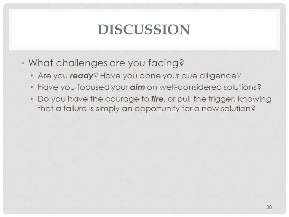 Discussion What challenges are you facing