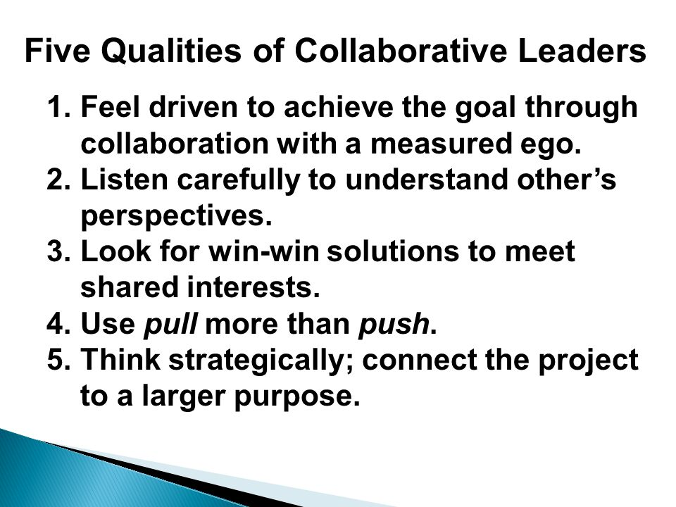 Five Qualities of Collaborative Leaders