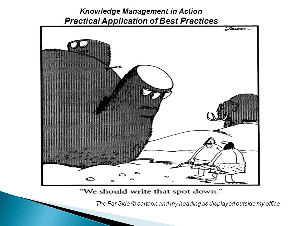 Knowledge Management in Action Practical Application of Best Practices