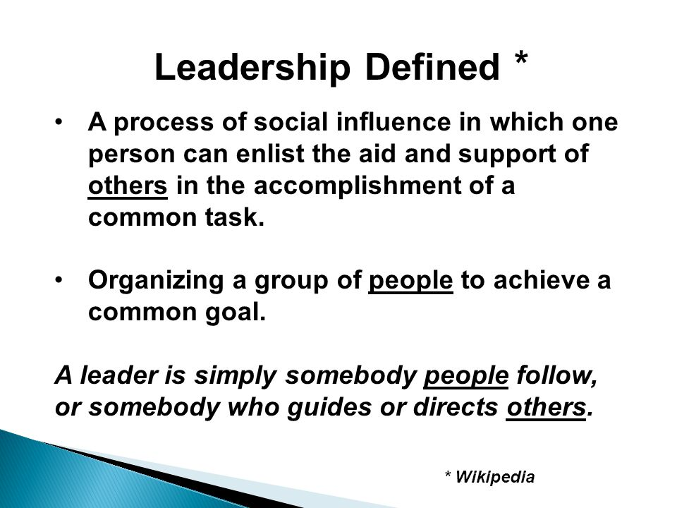 Leadership Defined *