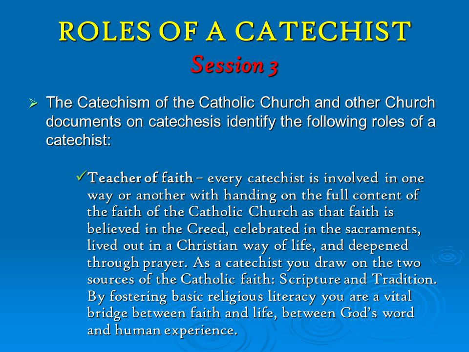 ROLES OF A CATECHIST Session 3