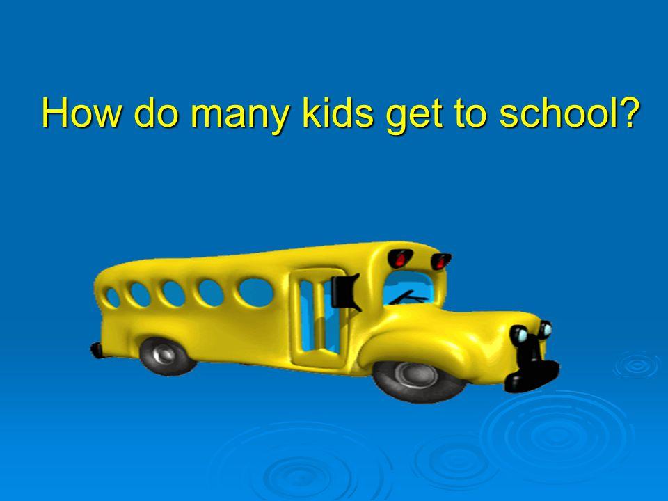 How do many kids get to school