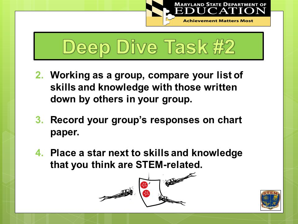 Deep Dive Task #2 STEM In Maryland