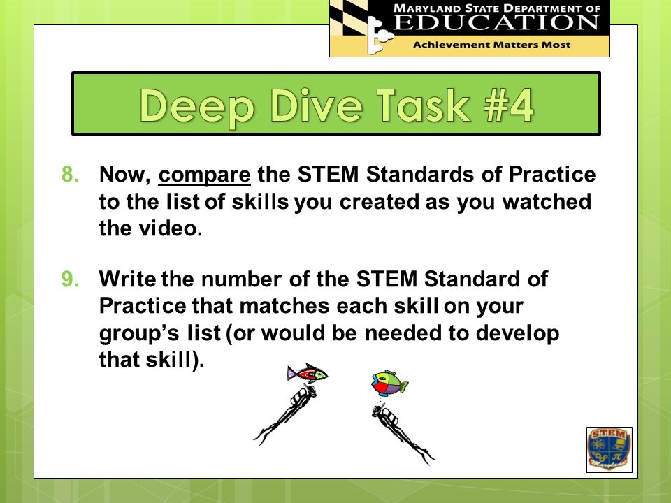 Deep Dive Task #4 STEM In Maryland