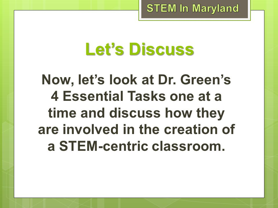 STEM In Maryland Let's Discuss.