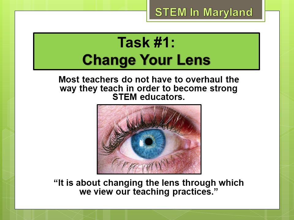 Task #1: Change Your Lens